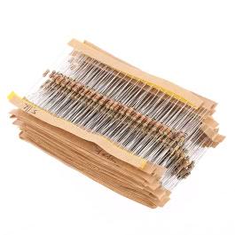 KKmoon 860pcs 1 ohm-1M ohm 1/4W Carbon Film Resistors Assortment Kit Set 43 Values Total Electronic Components
