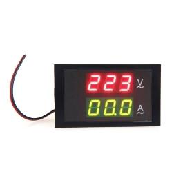 Digital LED Voltage Meter Ammeter Voltmeter with Current Transformer AC80-300V 0-50.0A Dual Display