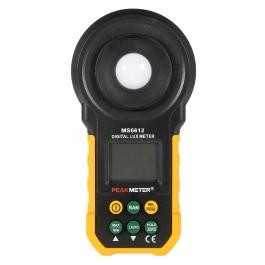 PEAKMETER MS6612 Digital Lux Meter Handheld Multifunction Meter for Light Illuminance Measuring