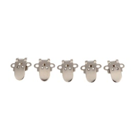 KKmoon 20pcs Blank Stainless Steel Shoe Clips Clip DIY Craft Buckles