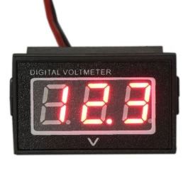 KKmoon Waterproof Monitor Battery Meter 2.5-30V DC Auto Gauge Small Digital Voltmeter Red LED Reverse Polarity Protection