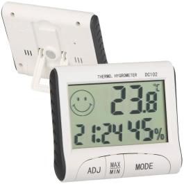 KKmoon LCD Digital Thermometer Hygrometer Temperature Humidity Meter Clock w/ Magnetic