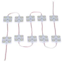 12V 10x4 LED Car Interior Lighting Lamp Waterproof Inside Roof Light Kit for RV Van Boat Trailer Bright White