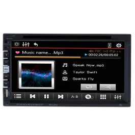 Beautiful UI Disign 7 Inch Universal 2 Din Car DVD/USB/SD Player HD Multimedia Bluetooth Radio Entertainment