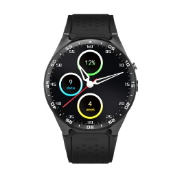 KW88 3G WCDMA Smartwatch Phone 1.39 inch UHD AMOLED Full Round Screen MTK6580 Quad-core 1.3GHz CPU ROM 4GB + RAM 512MB Android 5.1 OS 2.0MP Camera Pedometer Heart Rate Smart Watch for iPhone 6 6S Plus Samsung S6 S7 Plus iOS Android Smartphones