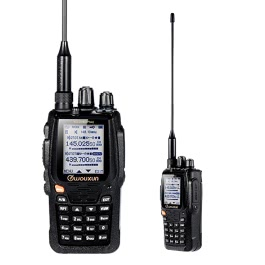 KKmoon Wouxun KG-UV8D Plus Interphone Walkie Talkie UV Dual-band Hand-hold VOX Duplex Repeater Dual Display Scramber Compander Radio Storage RX-CTC TX-CTC RX-DCS TX-  DCS Voice Prompt