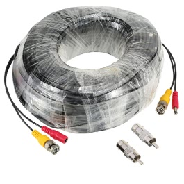98ft(30m) BNC Video Power Siamese Cable for Surveillance Camera DVR Kit
