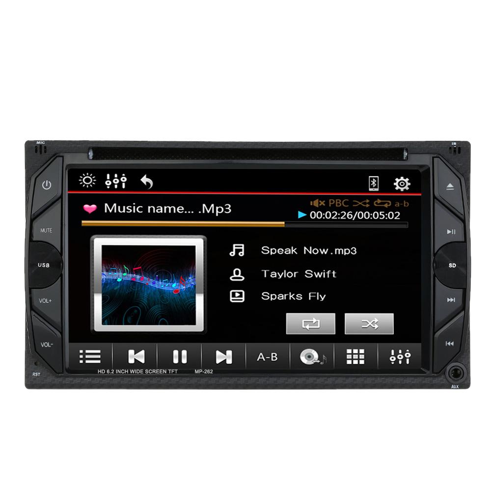 6 2 universal 2 din hd car stereo dvd player bluetooth radio entertainment touch screen fm radio usb port
