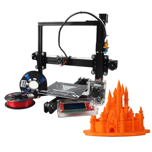 KKmoon TEVO Tarantula I3 Aluminium Extrusion 3D Printer Kit Auto and Large Bed 3D Printing 2 Rolls Filament 8GB Memory Card As Gift