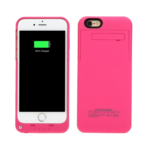 KKmoon 3200mAh External Backup Battery Case Charger Cover Pack Power Bank Rechargeable Portable for Apple iPhone 6 4.7